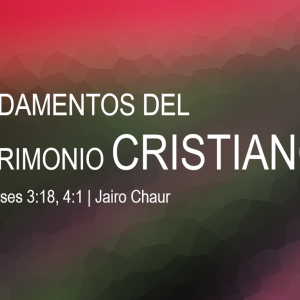 Fundamentos del matrimonio cristiano